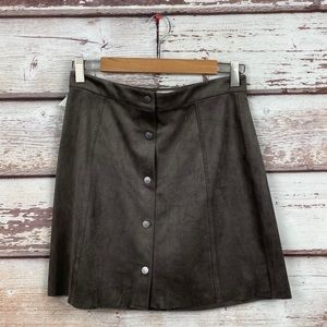 Aritzia Wilfred Free Vegan Leather Centinela skirt